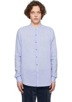 Armani Blue Linen Shirt