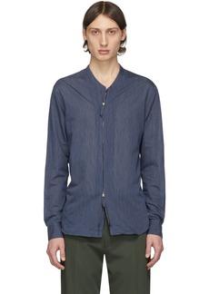 Armani Blue Mini Stripe Shirt