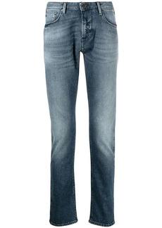 Armani blue washed slim-fit jeans