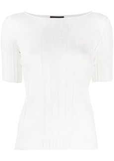 Armani boat neck T-shirt