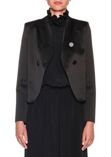 Armani Bonded Satin Jersey Short Jacket