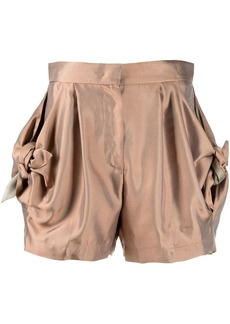 Armani bow-detail fitted shorts