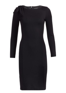 Armani Bow-Detail Jersey Dress