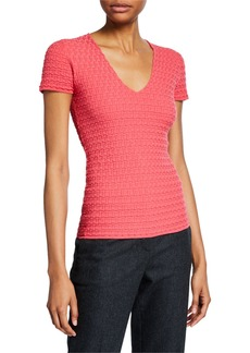 Armani Boxed-Knit Shell  Pink