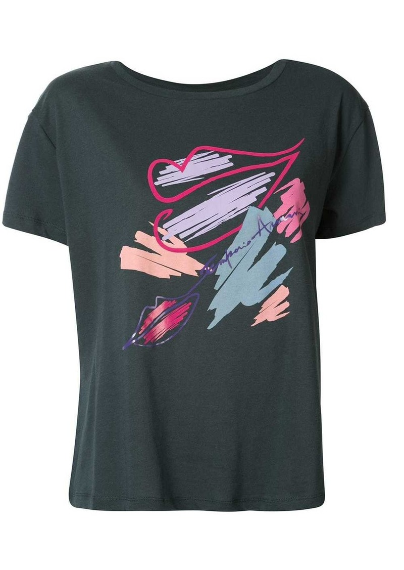 Armani branded lips T-shirt