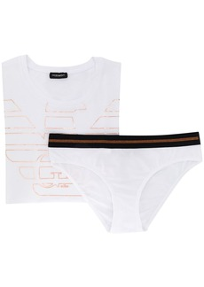Armani branded t-shirt and briefs set