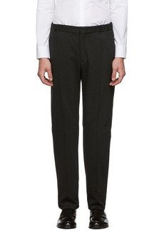 Armani Brown Stretch Jersey Trousers