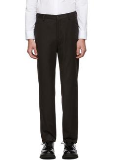 Armani Brown Virgin Flannel Trousers