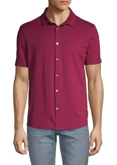 Armani Button Down Jersey Polo