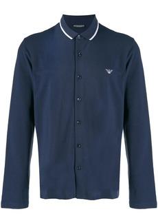 Armani button front polo shirt