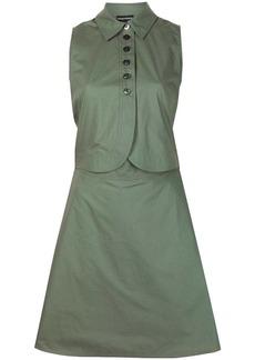 Armani button-up sleeveless shirt dress