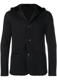 Armani buttoned hooded jacket