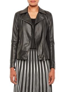 Armani Caban Leather Jacket