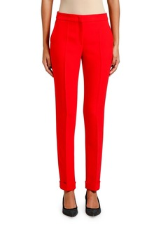 Armani Cady Zip Front Tapered Cuff Pants