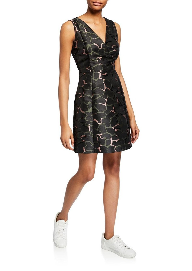 Armani Camo-Print Cocktail Dress