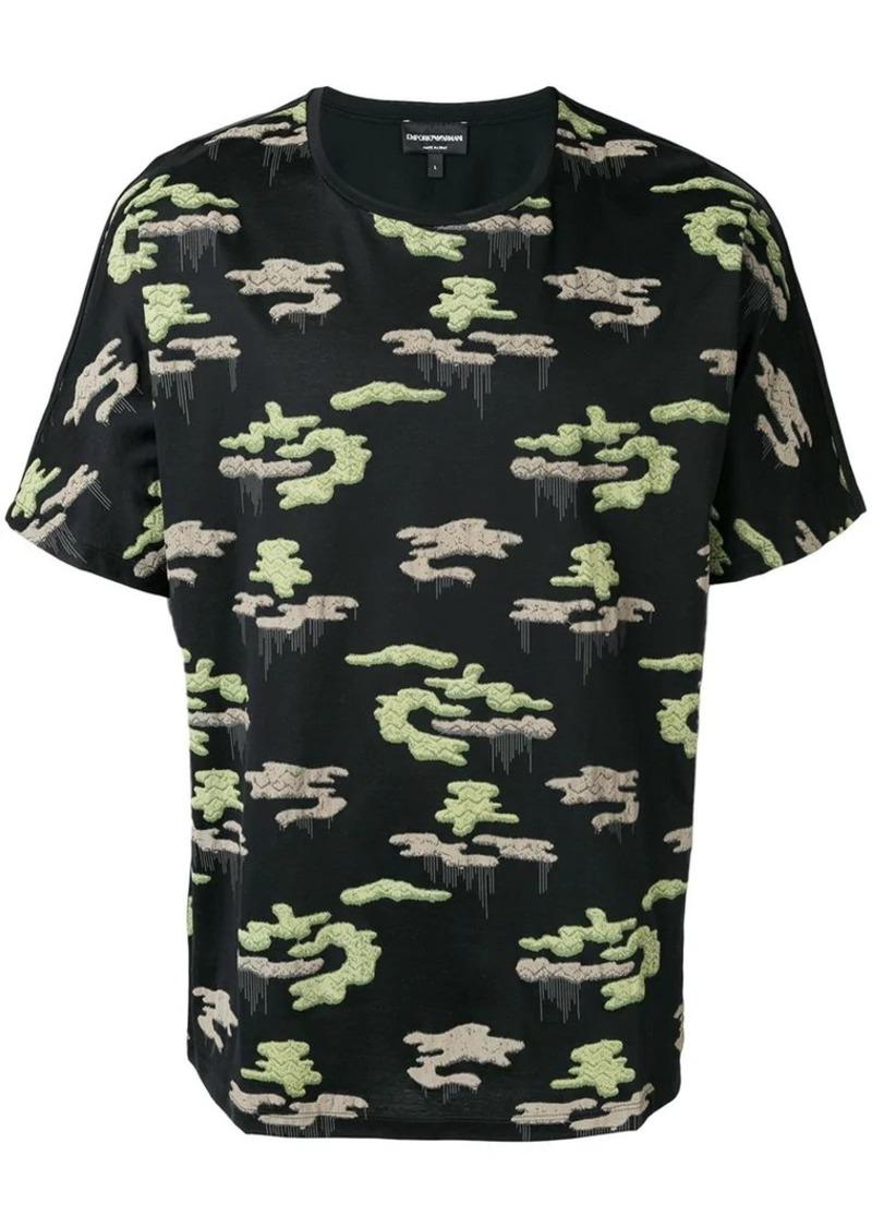Armani camouflage print T-shirt