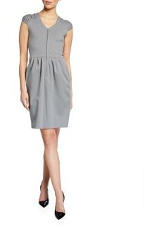 Armani Cap-Sleeve Milano Jersey Dress