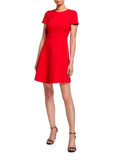 Armani Cap Sleeve Stretch Cotton Dress