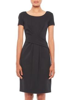 Armani Cap-Sleeve Twist Dress
