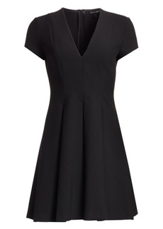 Armani Cap Sleeve V-Neck Dress