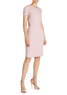 Armani Cap Sleeve V-Neck Sheath Dress
