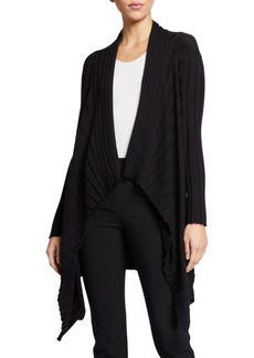 Armani Cashmere-Blend Pleated Knit Trapeze Sweater