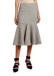 Armani Cashmere Jersey Flounce Skirt