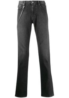 Armani chain detail straight leg jeans