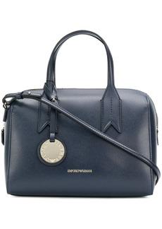 Armani charm-detail satchel