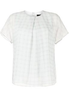 Armani check-print blouse
