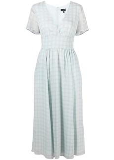 Armani check-print chiffon dress
