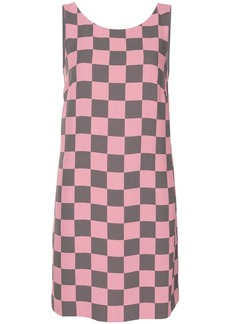 Armani check-print shift dress