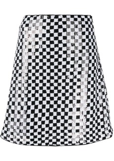 Armani check sequin-embellished skirt