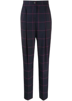 Armani checked tailored trousers