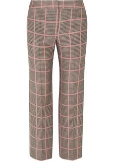Armani Checked Woven Straight-leg Pants