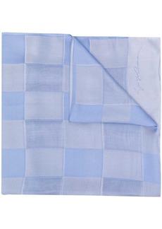 Armani checkered-pattern silk scarf