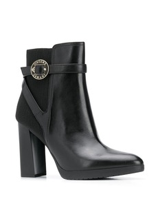 Armani block-heel booties