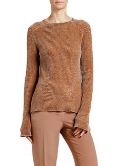 Armani Chenille Ribbed Crewneck Sweater