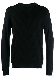 Armani chevron knitted jumper