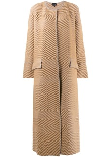 Armani chevron midi coat