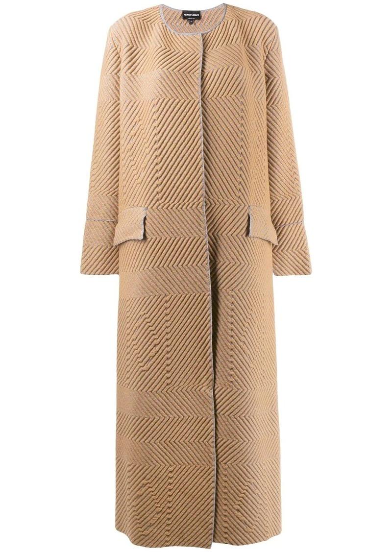 Armani chevron midi coat