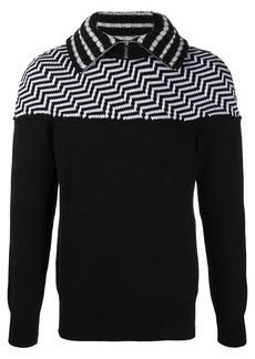 Armani chevron pattern fleece