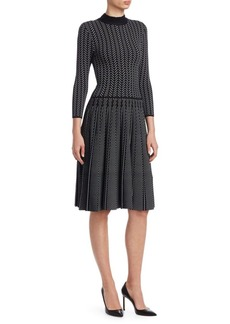 Armani Chevron Print Knitted Dress