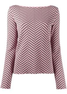 Armani chevron-print long-sleeved jumper