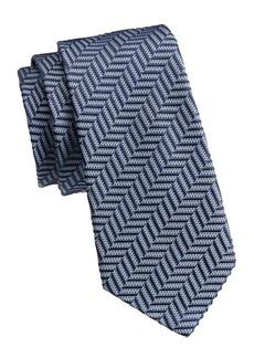 Armani Chevron Silk Tie