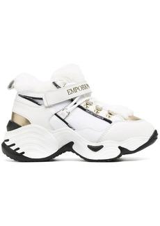 Armani chunky high-top trainers