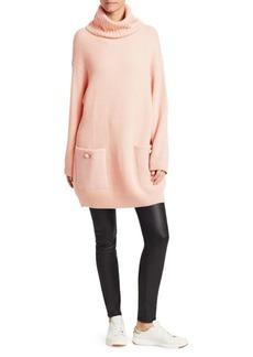 Armani Chunky Ribbed Long Turtleneck Sweater