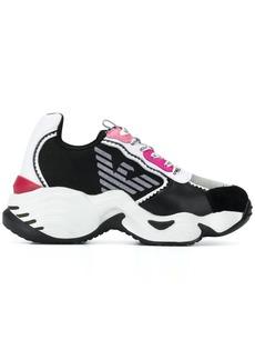 Armani chunky sole trainers