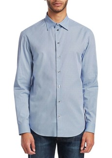 Armani Circle Print Button-Down Shirt
