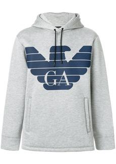 Armani classic logo hoodie